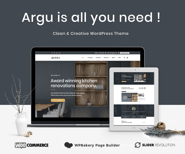 Argu Kitchen WordPress Theme